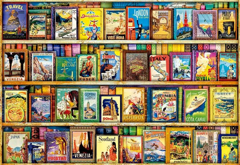 Puzzle Educa Viajando por el Mundo de 1000 Piezas