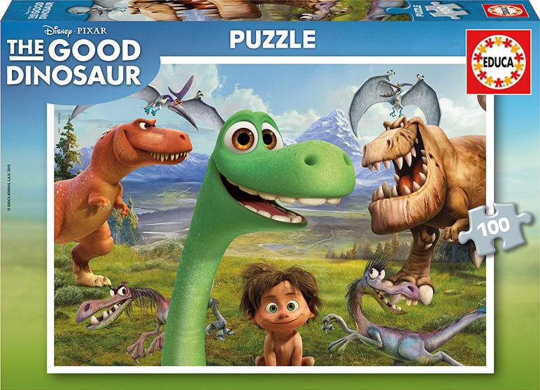 Puzzle Educa Viaje de Arlo, Good Dinosaurs de 100 Piezas