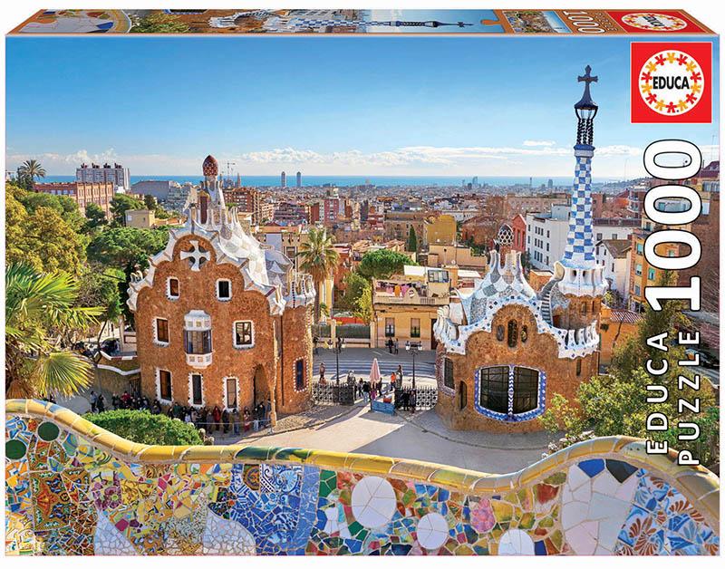 Puzzle Educa Vista de Barcelona Desde Parque Güell 1000 Piezas
