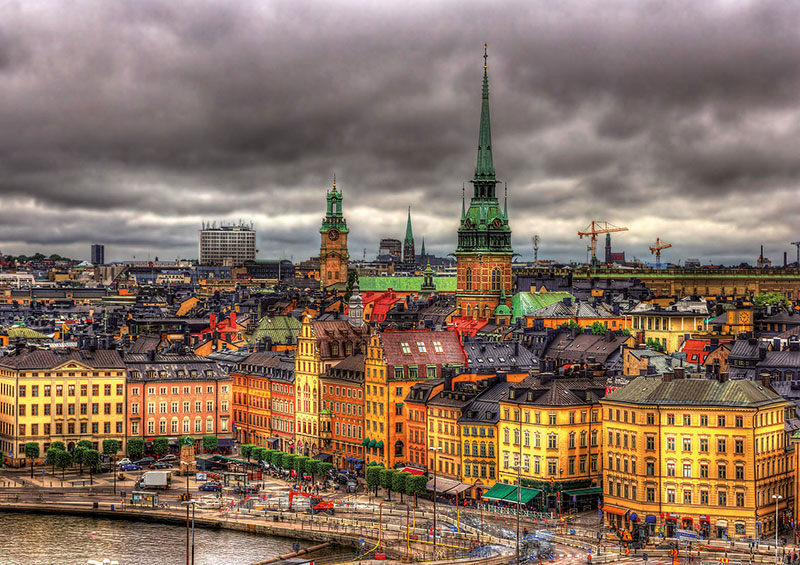 Puzzle Educa Vista de Estocolmo, Suecia de 1000 Piezas