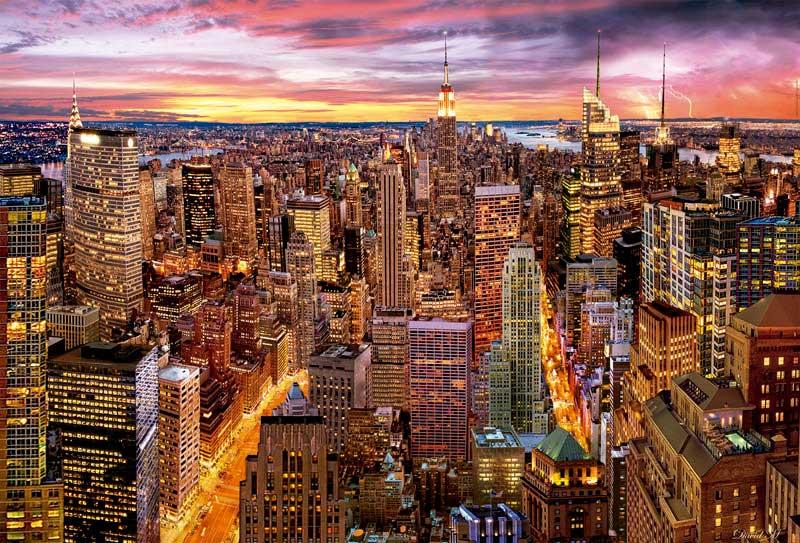Puzzle Educa Vistas de Manhattan de 3000 Piezas