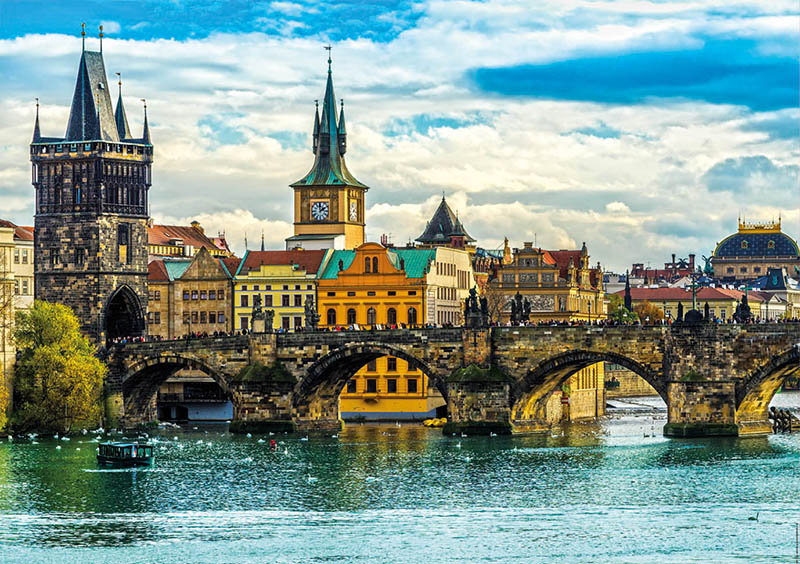 Puzzle Educa Vistas de Praga de 2000 Piezas
