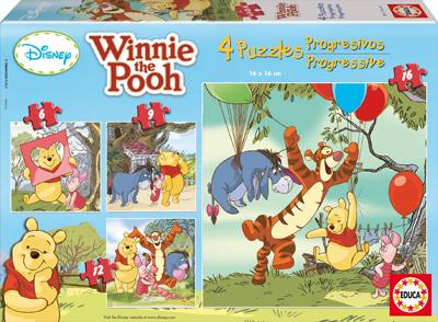 Puzzle Educa Winnie the Pooh Progresivo 6+9+12+16 Piezas