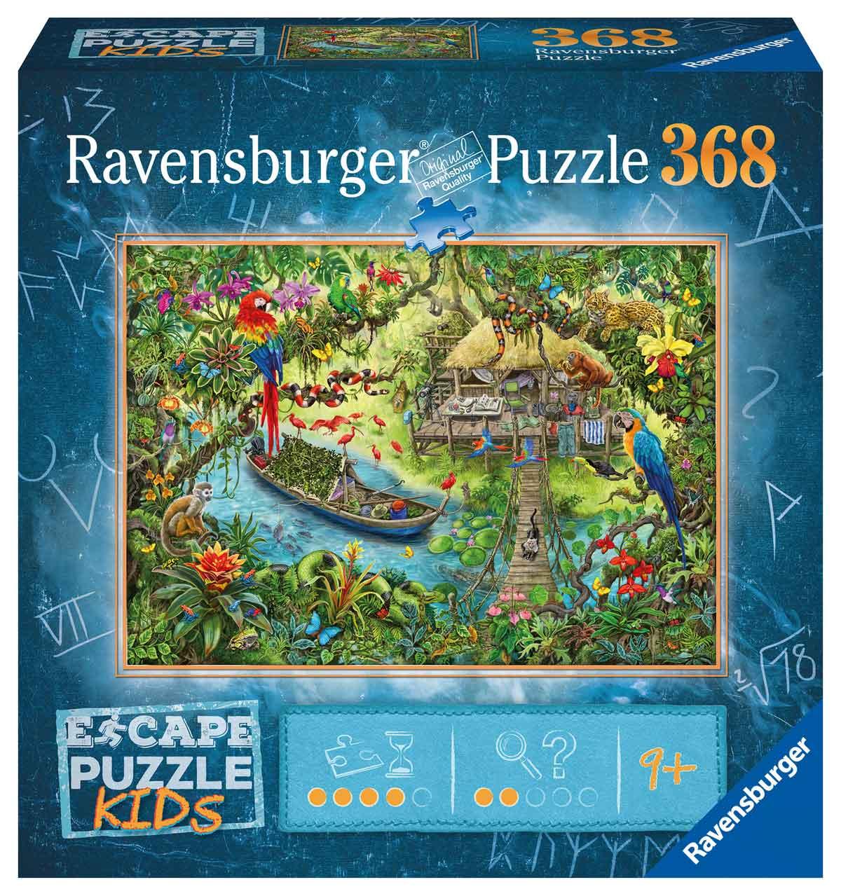 Puzzle Escape Kids Ravensburger Jungla de 368 Piezas