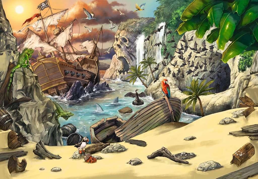 Puzzle Escape Kids Ravensburger Piratas de 368 Piezas