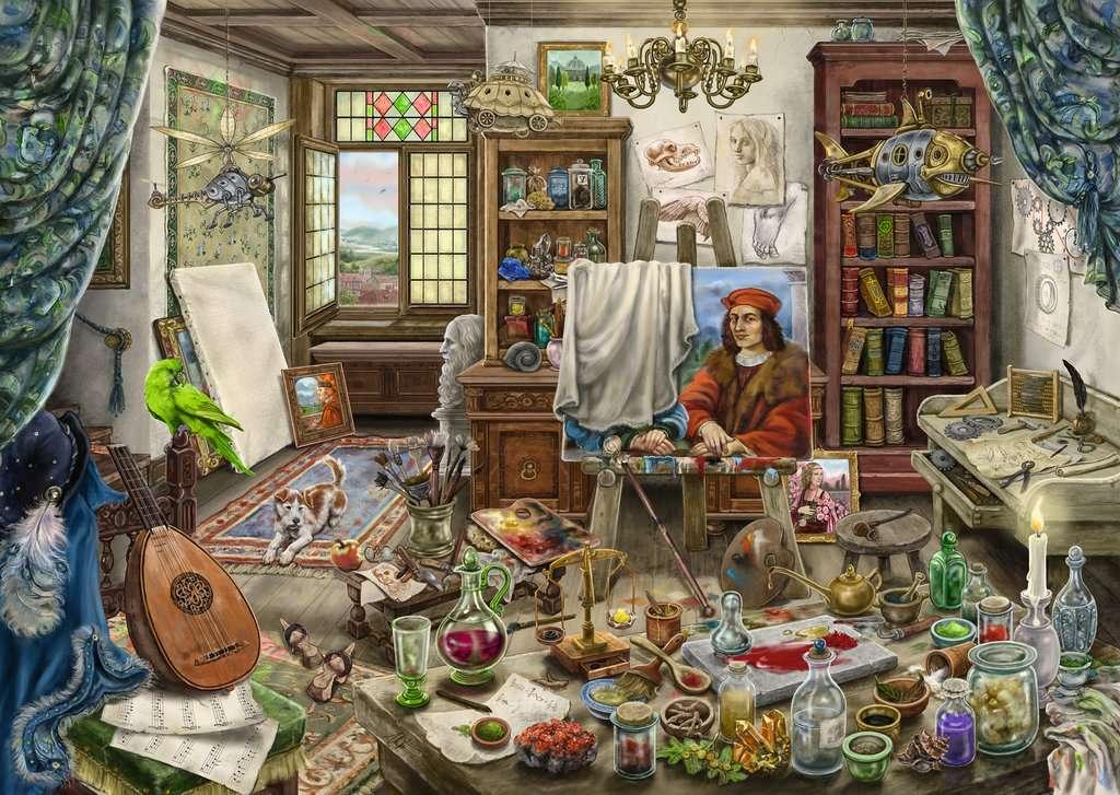 Puzzle Escape Ravensburger El Estudio del Artista de 759 Piezas
