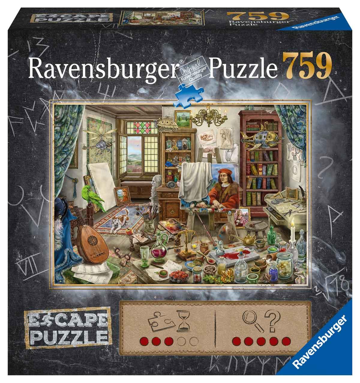 Puzzle Escape Ravensburger Estudio del Artista de 759 Piezas