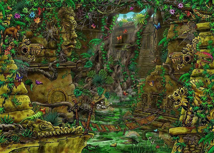 Puzzle Escape Ravensburger El Templo de 759 Piezas