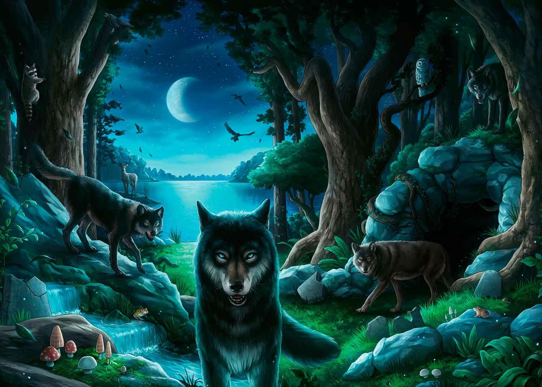 Puzzle Escape Ravensburger La Manada de Lobos de 759 Piezas