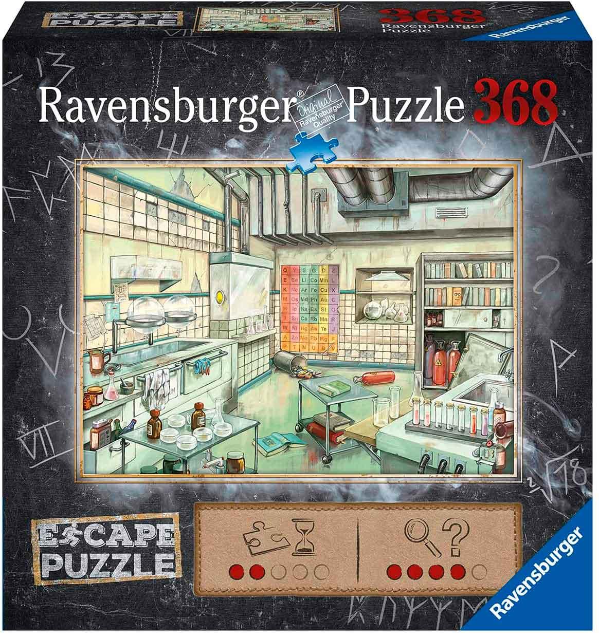 Puzzle Escape Ravensburger Laboratorio de Química de 368 Piezas