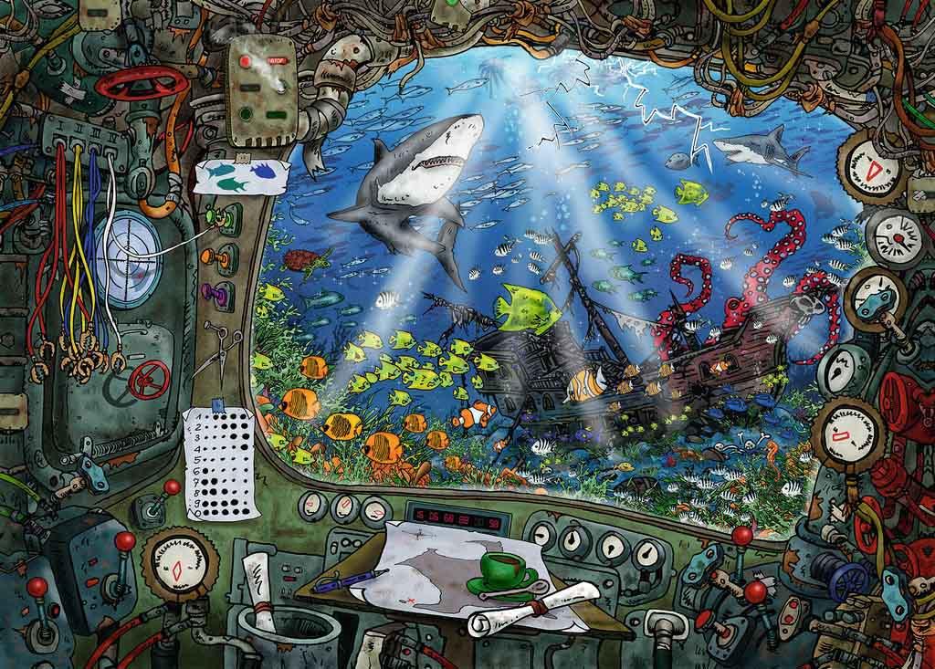 Puzzle Escape Ravensburger Submarino de 759 Piezas