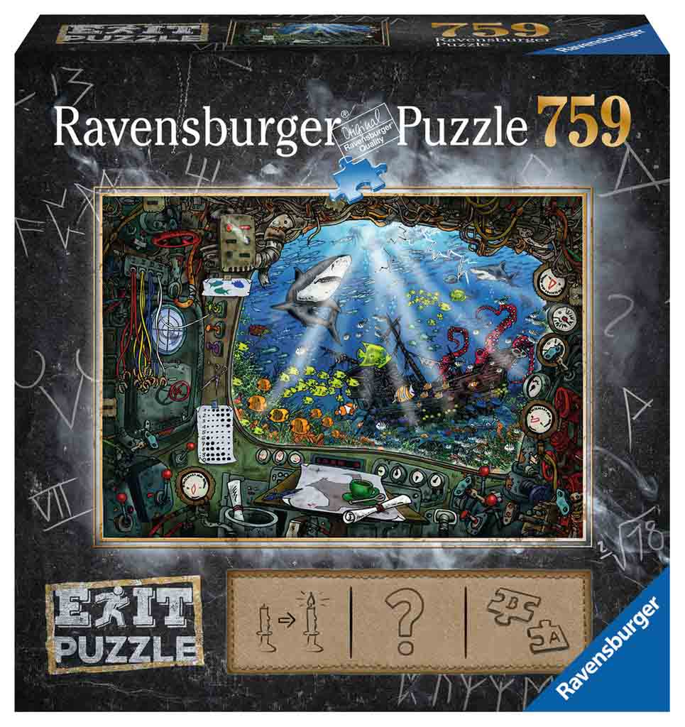 Puzzle Escape Ravensburger Submarino de 759 Piezas