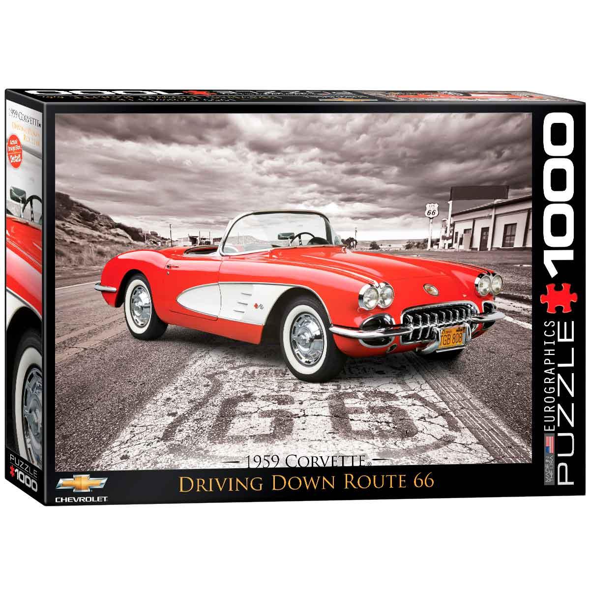 Puzzle Eurographics 1959 Corvette Ruta 66 de 1000 Piezas