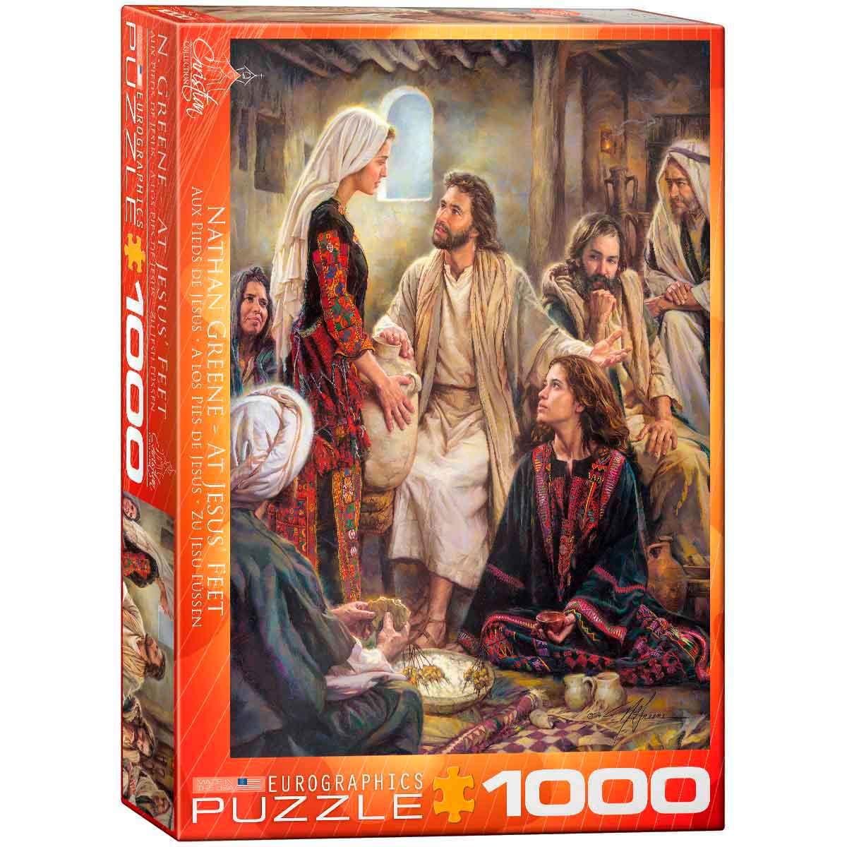 Puzzle Eurographics A los Pies de Jesús de 1000 Piezas