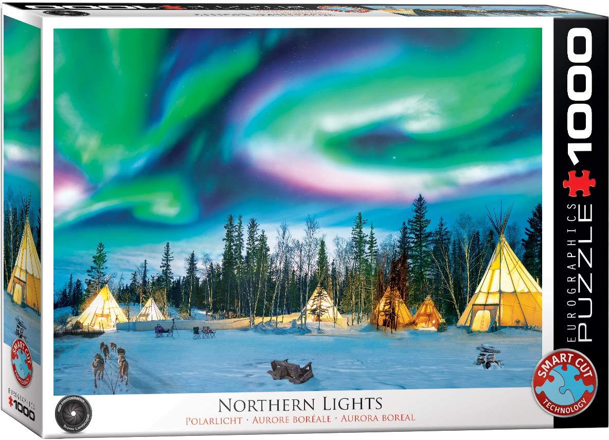 Puzzle Eurographics Acampada para Observar la Aurora Boreal 1000