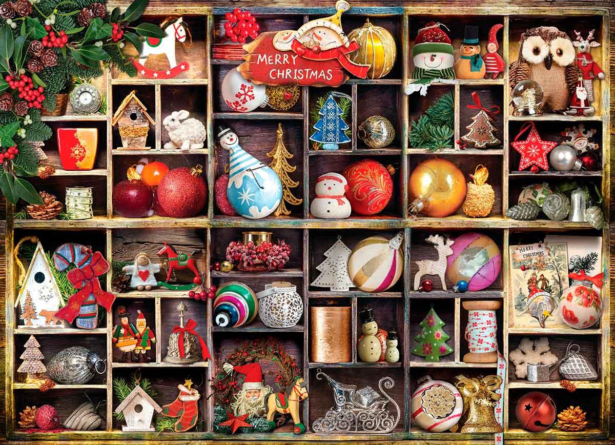Puzzle Eurographics Adornos de Navidad de 1000 Piezas