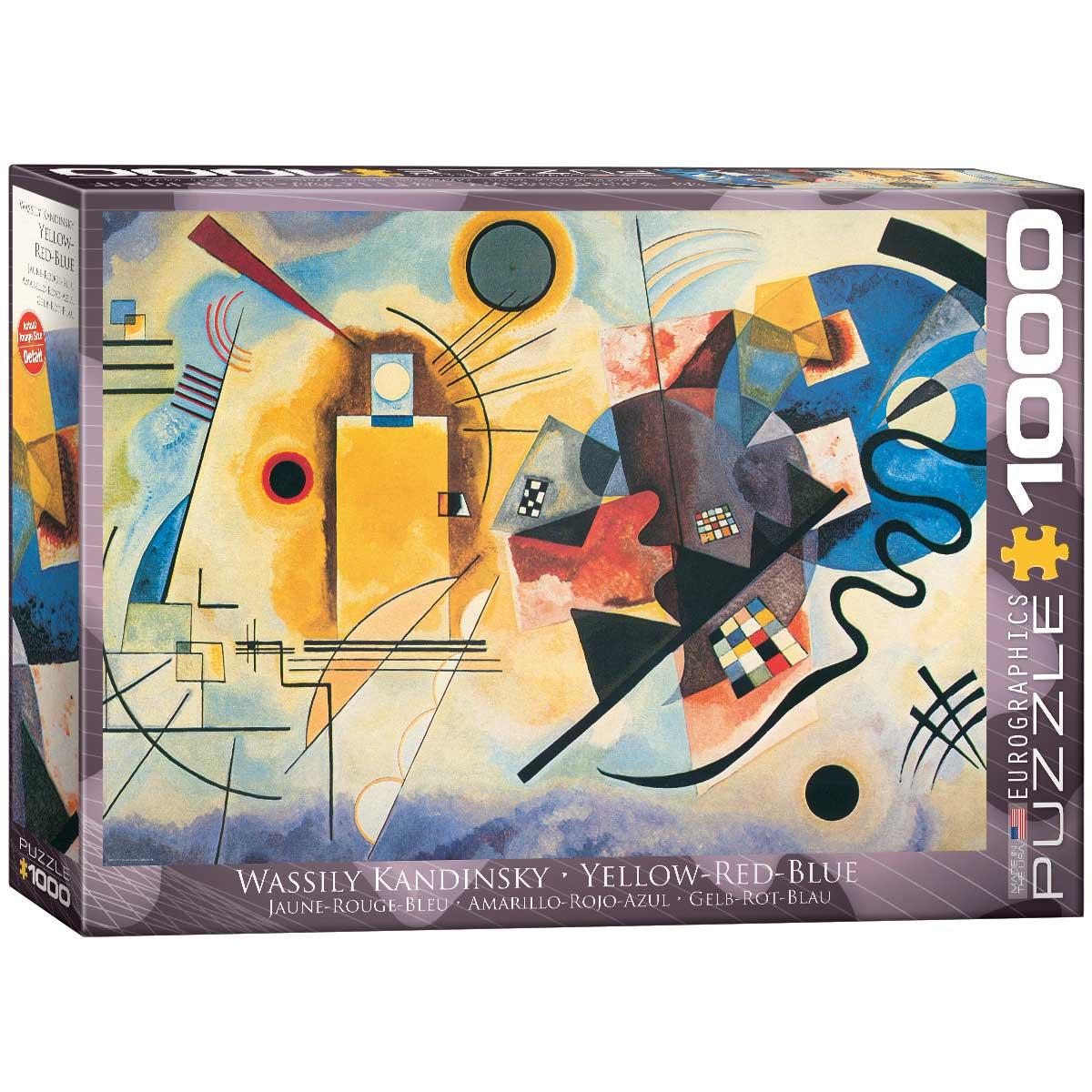 Puzzle Eurographics Amarillo-Rojo-Azul de 1000 Piezas