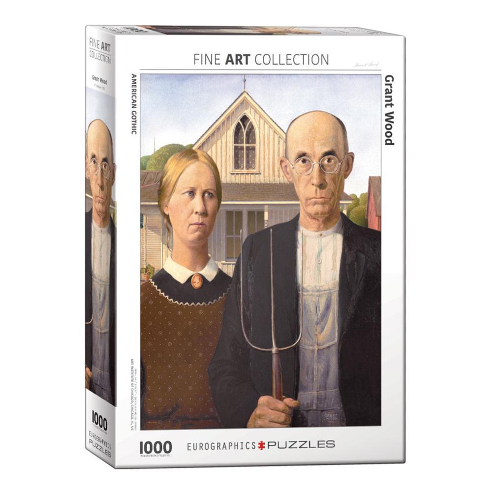 Puzzle Eurographics American Gothic de 1000 Piezas