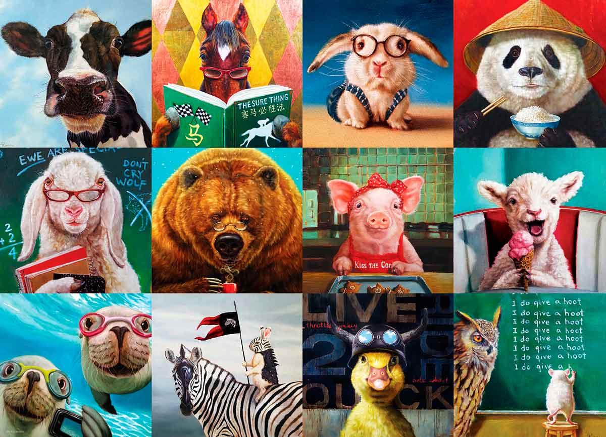Puzzle Eurographics Animales Divertidos de 1000 Piezas