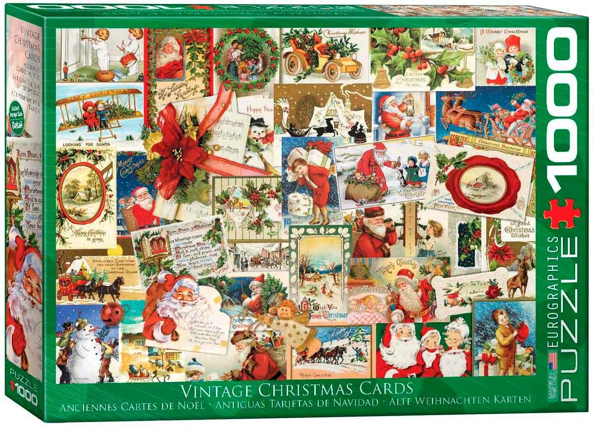 Puzzle Eurographics Antiguas Tarjetas de Navidad de 1000 Piezas