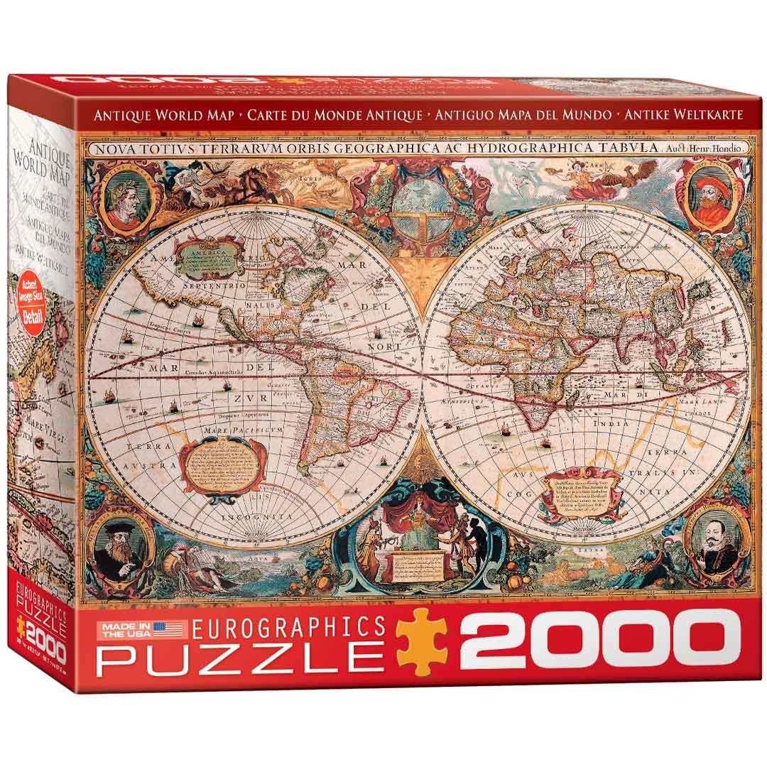 Puzzle Eurographics Antiguo Mapa del Mundo de 2000 Piezas