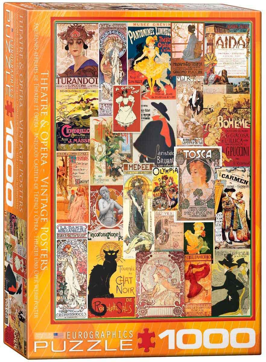 Puzzle Eurographics Antiguos Carteles de Teatro y Ópera de 1000