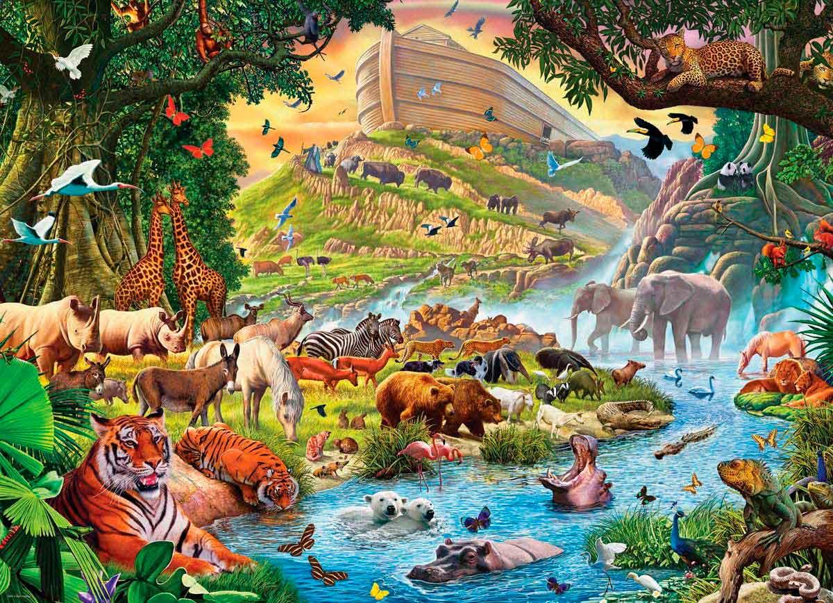 Puzzle Eurographics Arca de Noé Preludio de la Tormenta XXL 500p