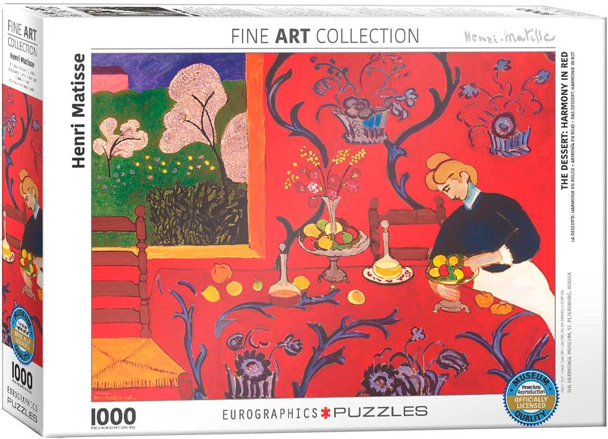 Puzzle Eurographics Armonía en Rojo de 1000 Piezas