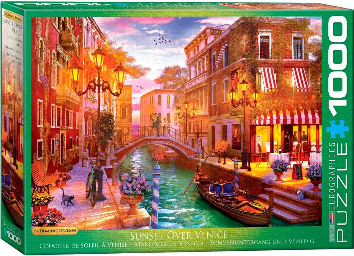 Puzzle Eurographics Atardecer en Venecia de 1000 Piezas