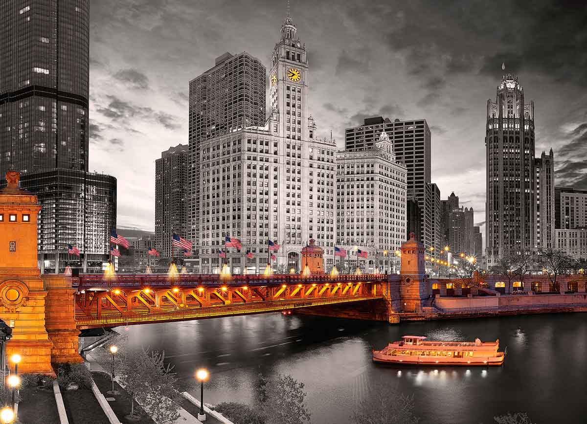 Puzzle Eurographics Avenida Chicago Michigan de 1000 Piezas