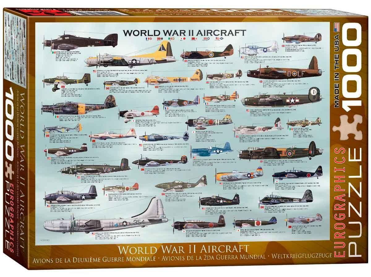 Puzzle Eurographics Aviones de 2ª Guerra Mundial de 1000 Piezas