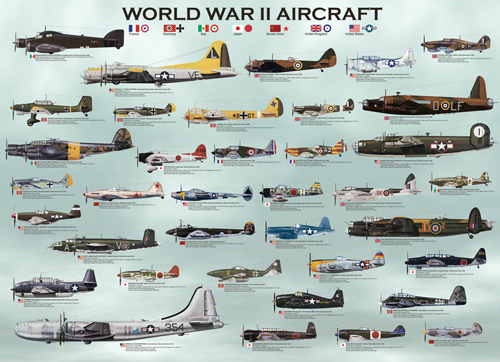 Puzzle Eurographics Avionetas de la Segunda Guerra Mundial de 10