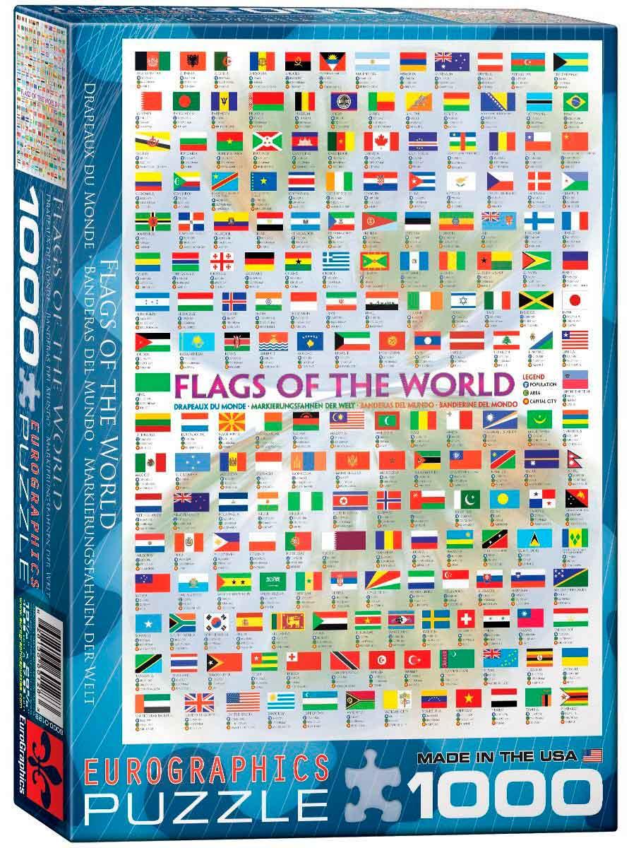 Puzzle Eurographics Banderas del Mundo de 1000 Piezas