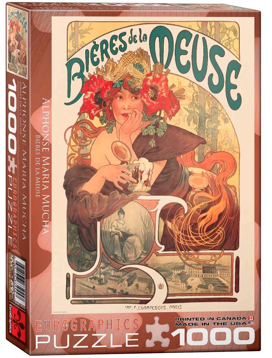Puzzle Eurographics Bieres de la Meuse de 1000 Pzas