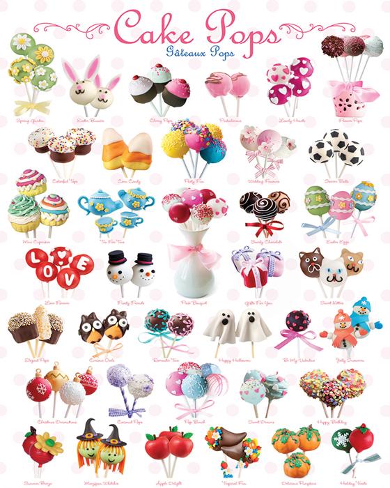 Puzzle Eurographics Cake Pops de 1000 Piezas