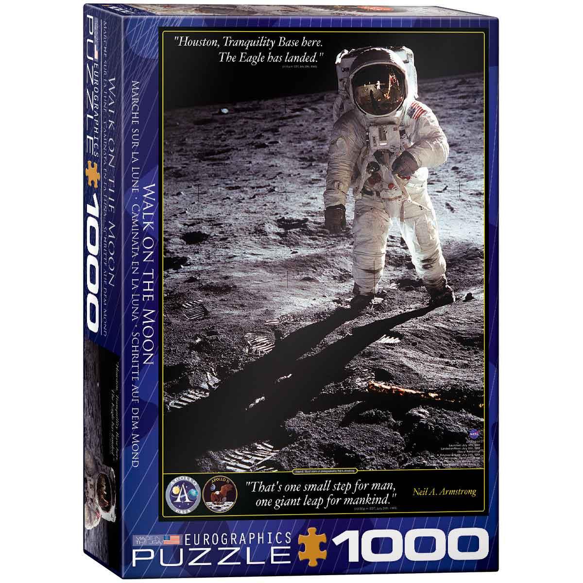 Puzzle Eurographics Caminata en la Luna de 1000 Piezas