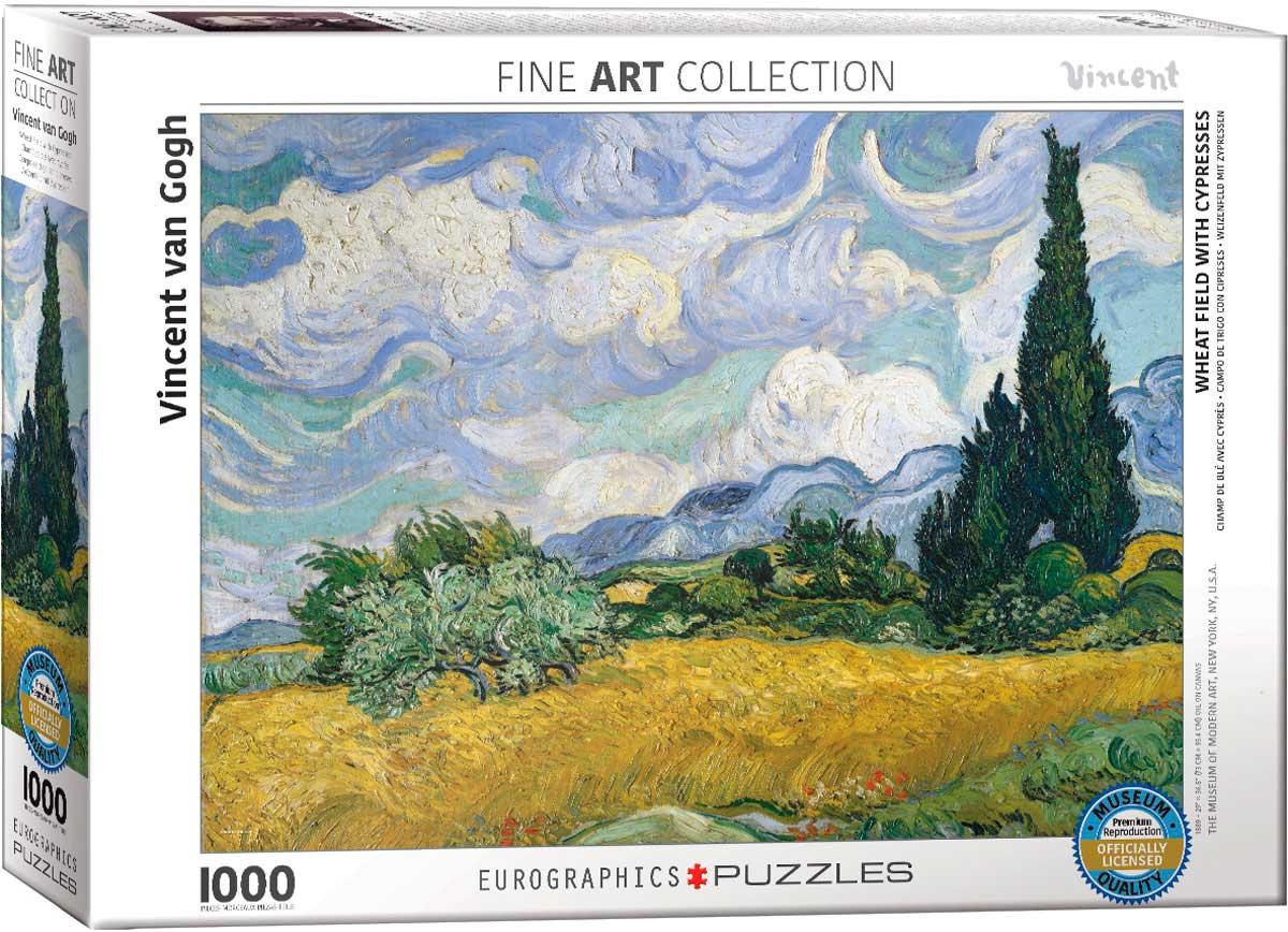 Puzzle Eurographics Campo de Trigo con Cipreces de 1000 Piezas