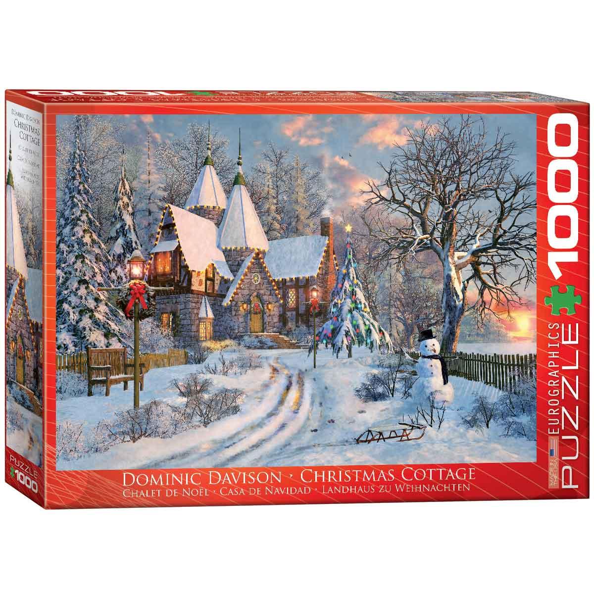 Puzzle Eurographics Casa de Campo en Navidad de 1000 Piezas