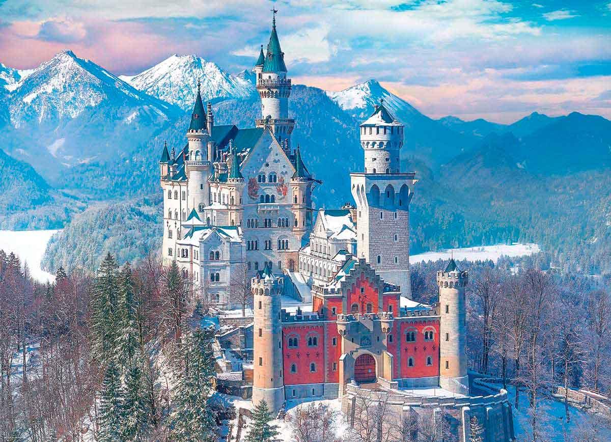 Puzzle Eurographics Castillo de Neuschwanstein en Invierno de 10