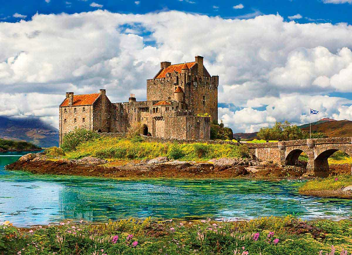 Puzzle Eurographics Castillo Eilean Donan, Escocia de 1000 Pieza