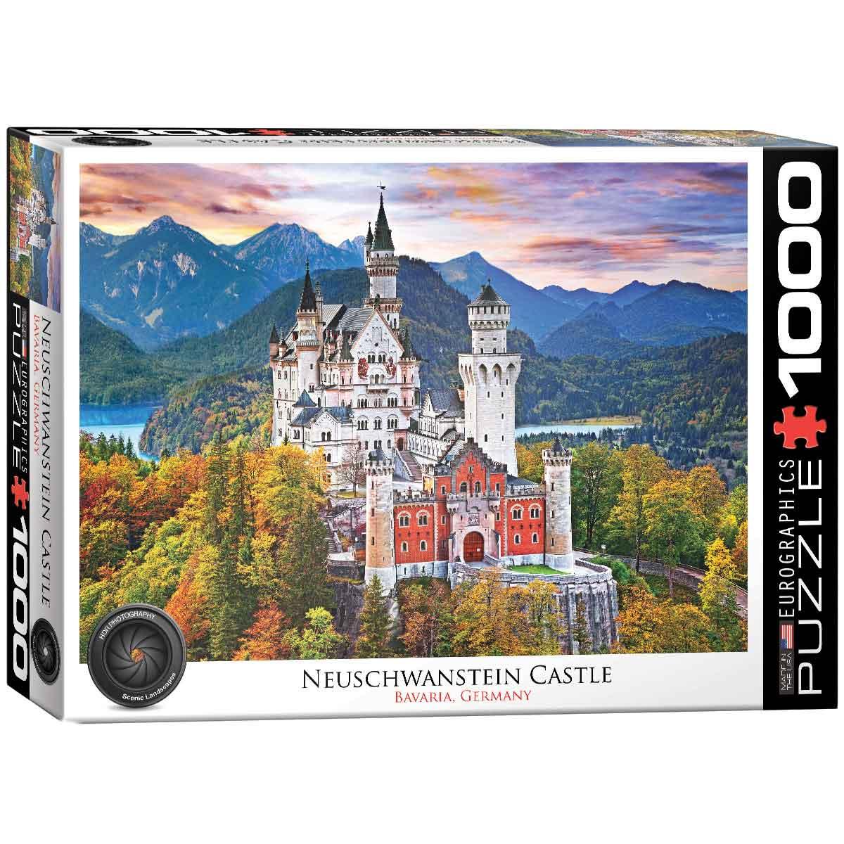 Puzzle Eurographics Castillo Neuschwanstein de 1000 Piezas