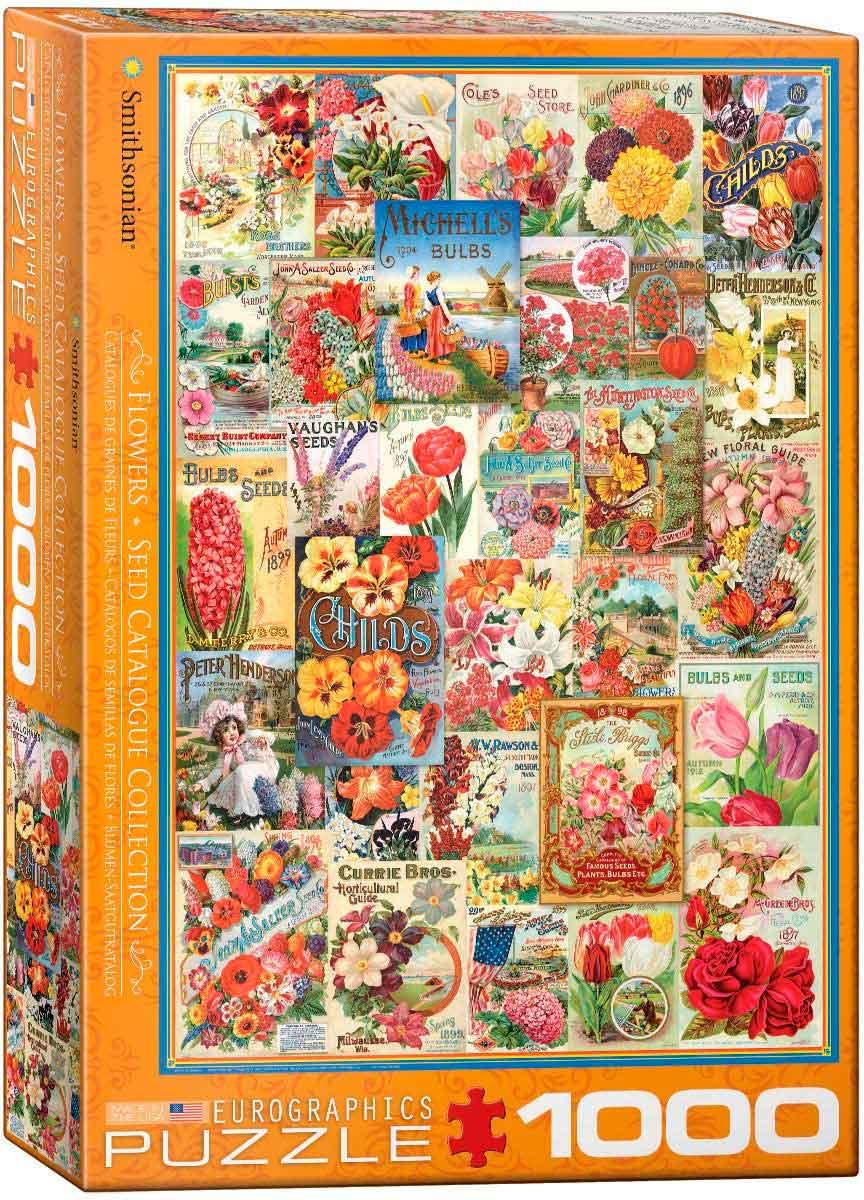 Puzzle Eurographics Catálogos de Semillas de Flores de 1000 Pzs