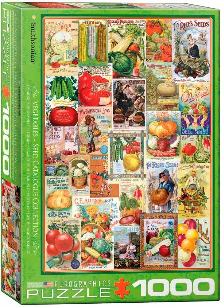 Puzzle Eurographics Catálogos de Semillas de Vegetales, 1000 Pzs