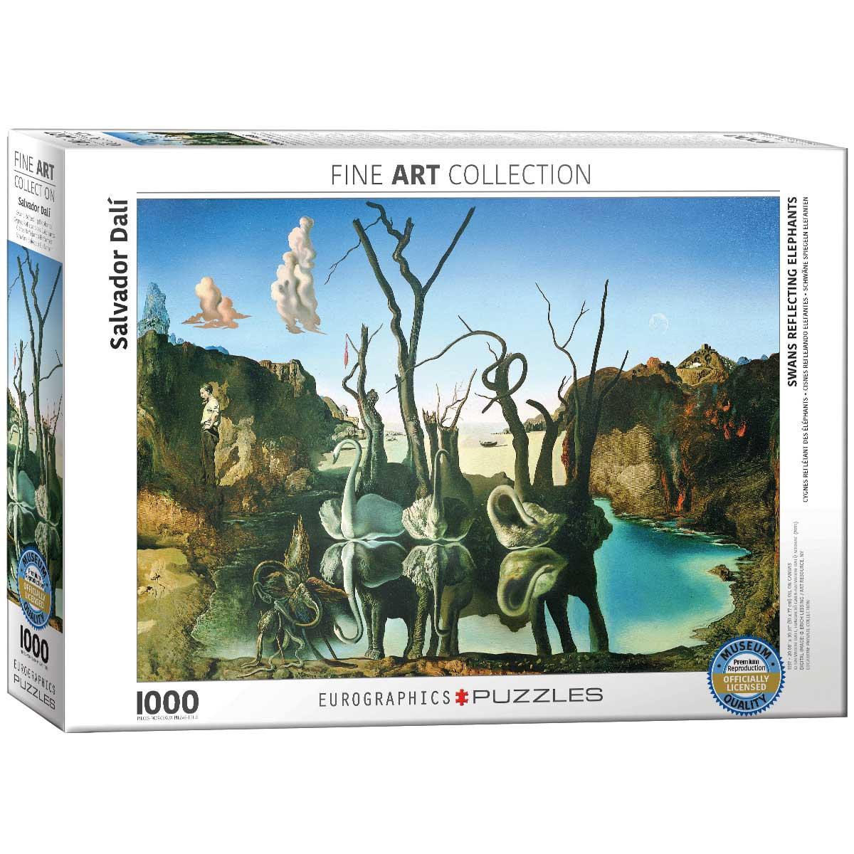 Puzzle Eurographics Cisnes que se Reflejan como Elefantes, 1000