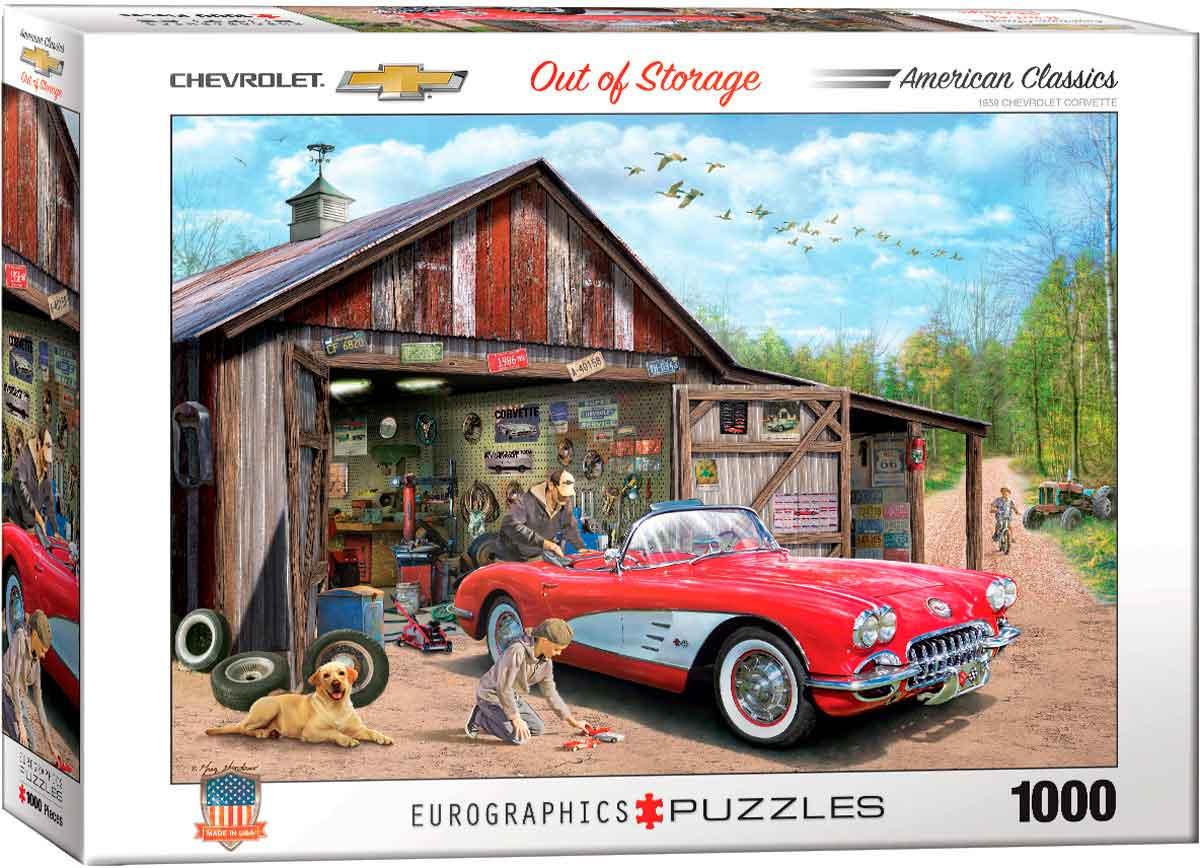 Puzzle Eurographics Coche Covette 1959 de 1000 Piezas