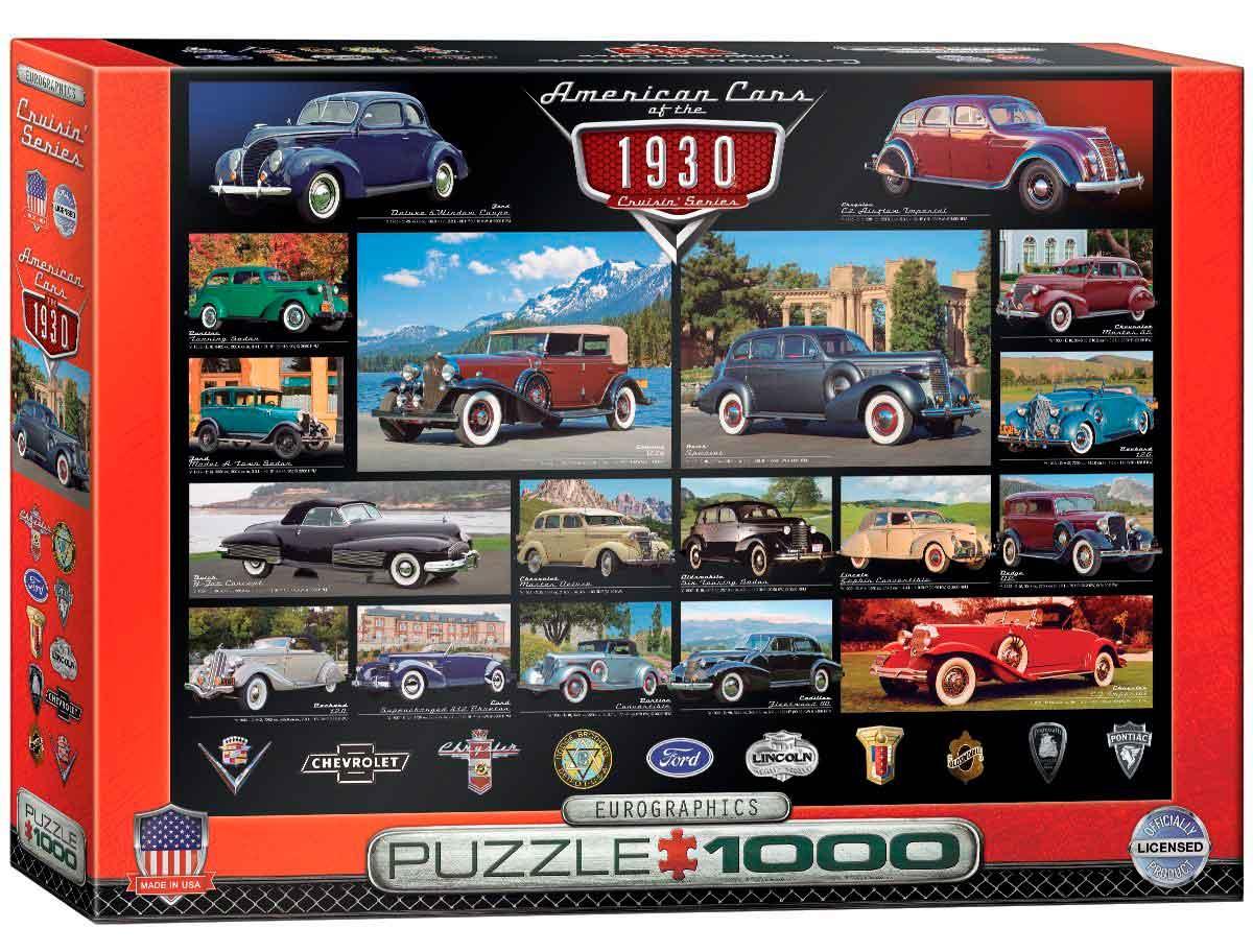 Puzzle Eurographics Coches Americanos de 1930, de 1000 Piezas