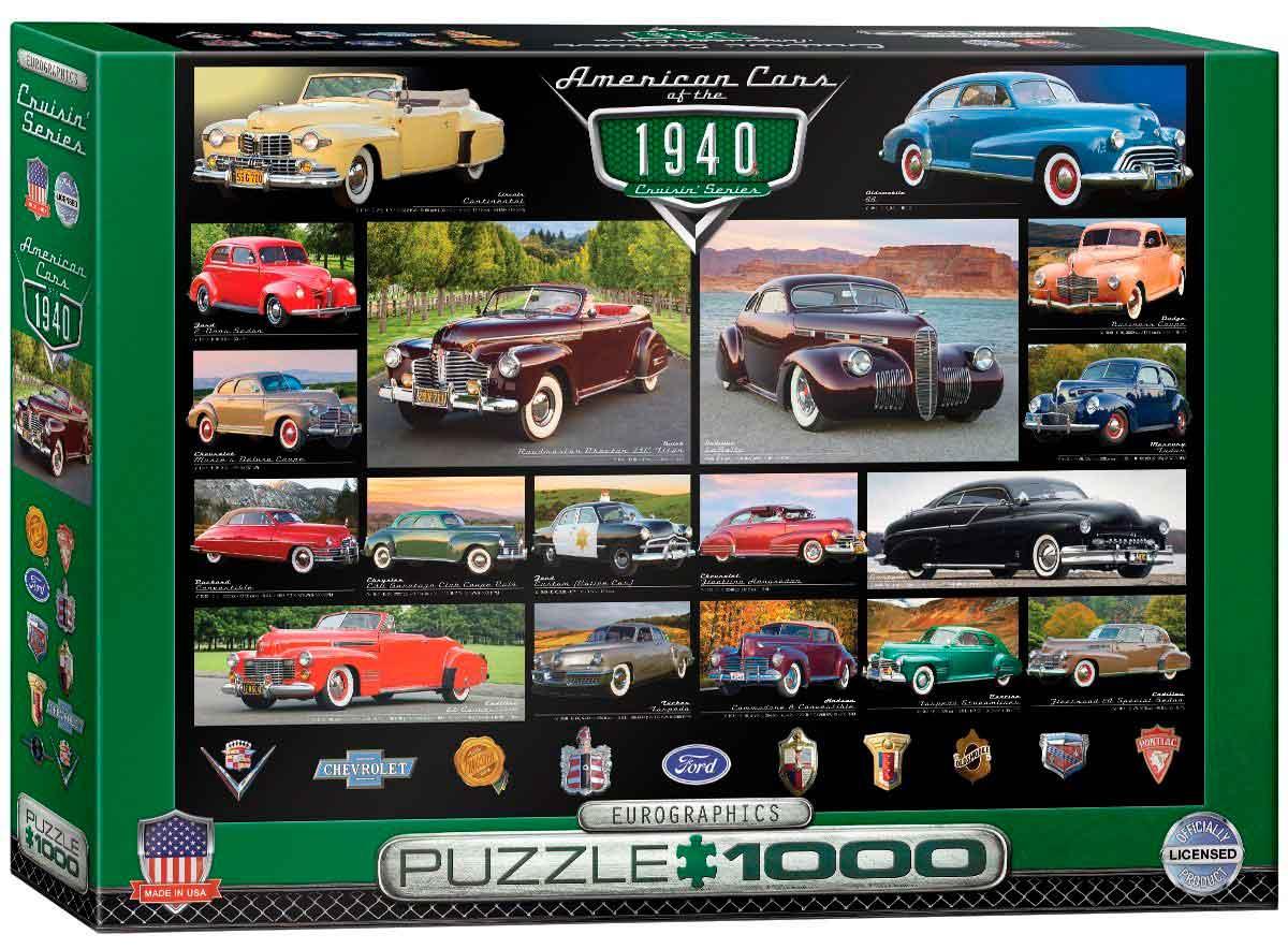 Puzzle Eurographics Coches Americanos de 1940, de 1000 Piezas