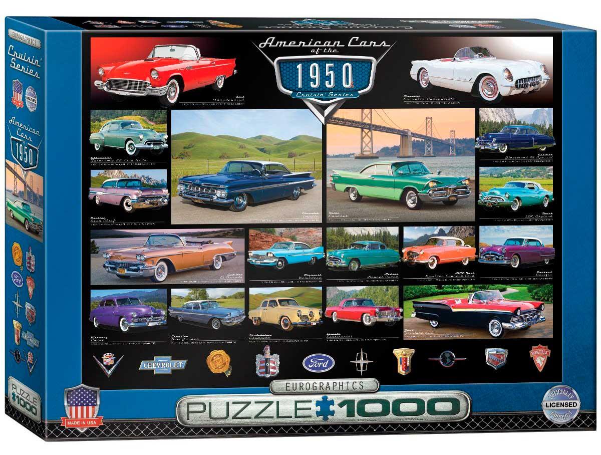 Puzzle Eurographics Coches Americanos de 1950, de 1000 Piezas