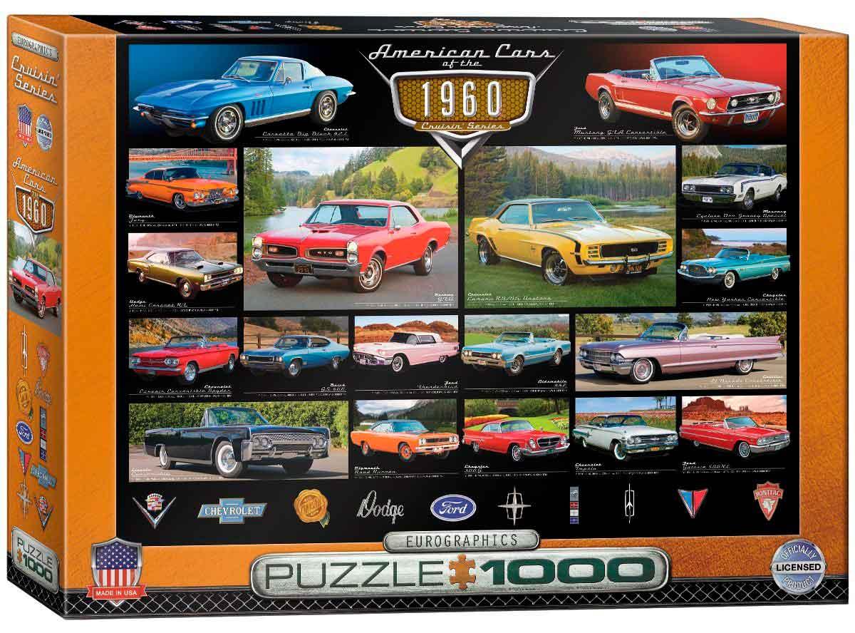 Puzzle Eurographics Coches Americanos de 1960, de 1000 Piezas
