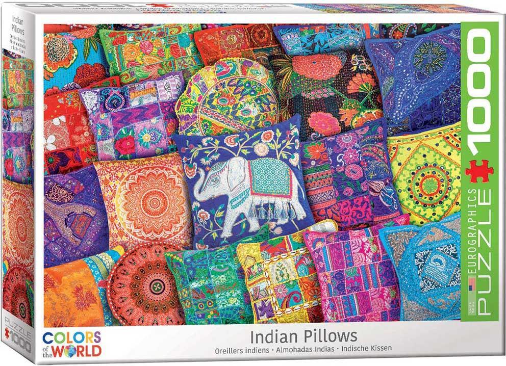 Puzzle Eurographics Cojines Indios de 1000 Piezas